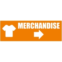 300 x 100 cm | Merchandise Werbebanner, Icon orange weiß, PVC, V1